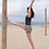 Thumbnail: מכנסוני יוגה פונה אפור זית אפרפר