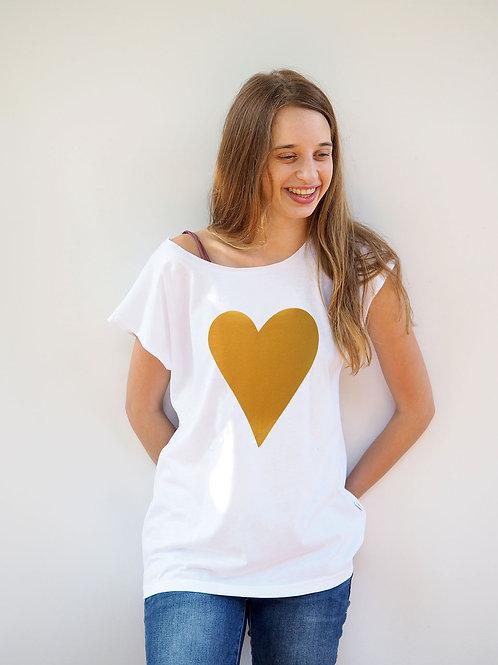 חולצת בויפרינד לב זהב