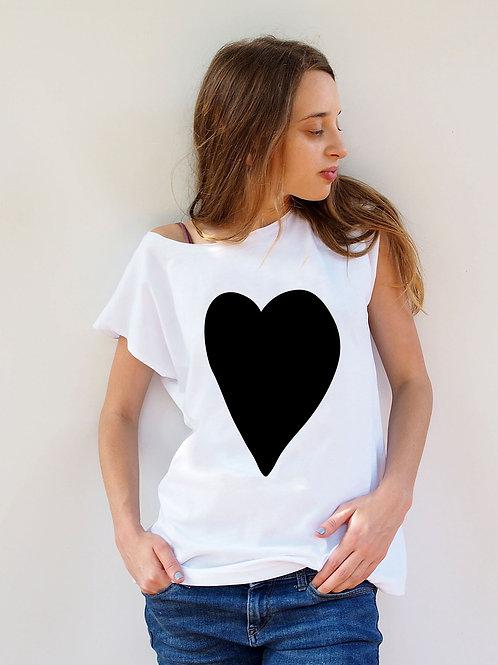 חולצת בויפרינד לב שחור