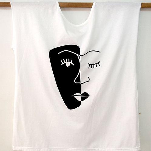 חולצת אוברסייז פרצוף