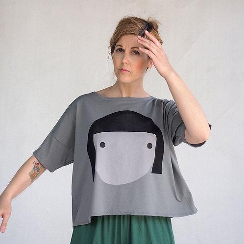 חולצת לולו פרצוף בירוק זית