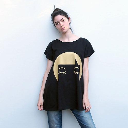 חולצת אוברסייז יוקו זהב