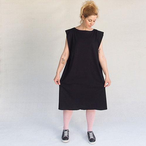 שמלת אוריגמי  שחור