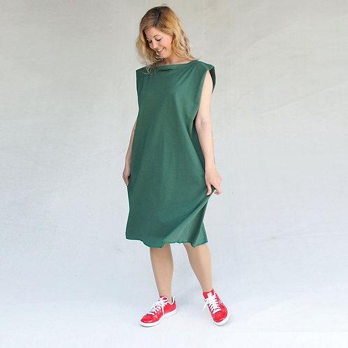 Green origami dress