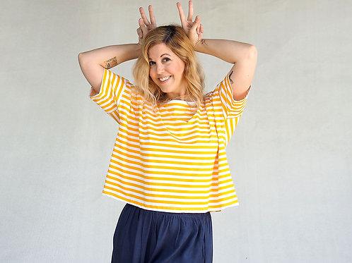 Lulu yellow stripes T