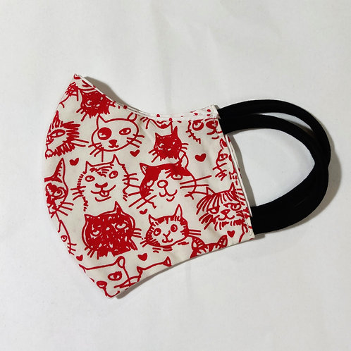 Adult Child Face Mask Cats