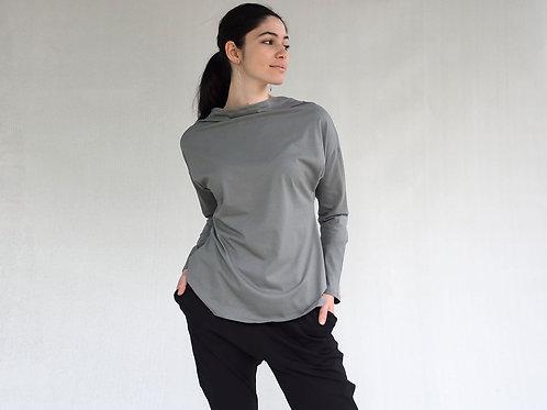 חולצת יפן שרוול זית