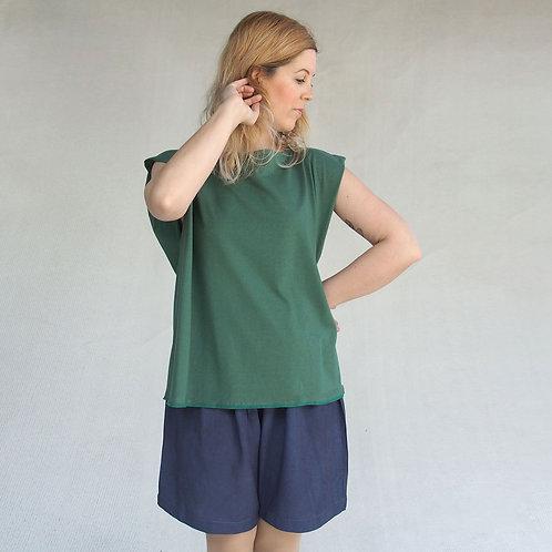Green origami T shirt
