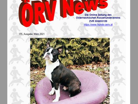 Märzausgabe der ÖRV - News online!