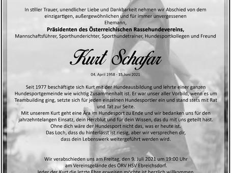 Verabschiedung ÖRV-Präsident Kurt Schafar