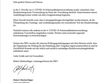Infos vom ÖKV