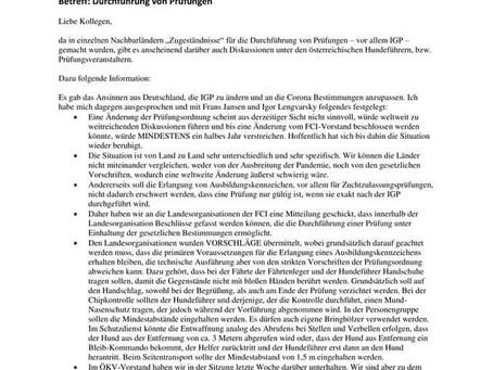Information des ÖKV