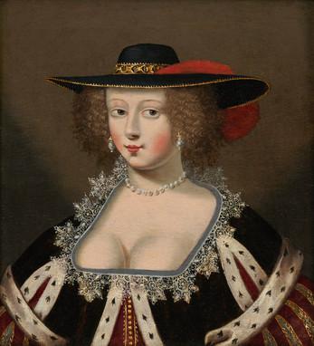 Dame au large chapeau – Atelier de Claude Deruet (1588 – 1660)