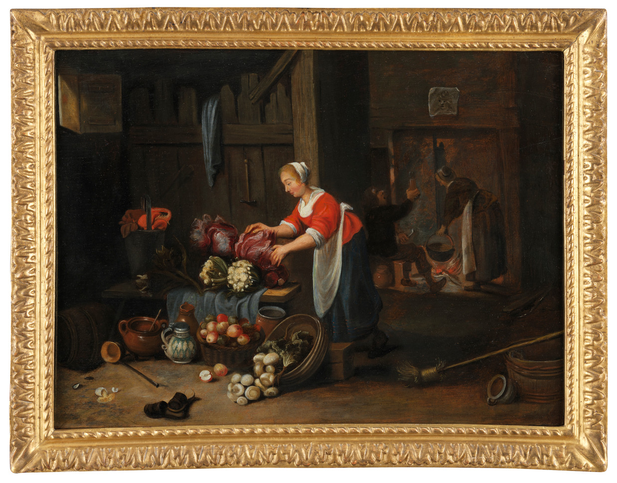 Intérieur de cuisine - Attribué à Hendrick Martensz Sorgh (1609/11 - 1670)