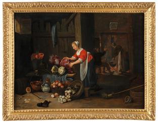 Intérieur de cuisine – attribué à Hendrick Martensz Sorgh (1609/11 – 1670)
