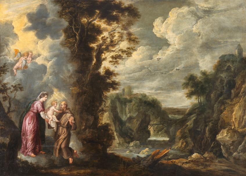 La Vierge présentant l'Enfant Jésus à St-François – Guilliam Forchondt l'Ancien (1608 – 1678)
