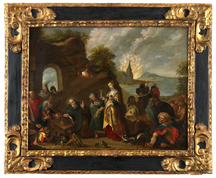 Tentation de Saint-Antoine Atelier Frans II Francken (1581 - 1641)