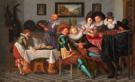Le salon de musique – Atelier de Dirck Hals (1591 – 1656)
