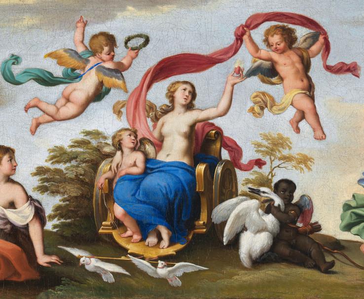 Le char de Vénus - Ecole française du XVIIe siècle