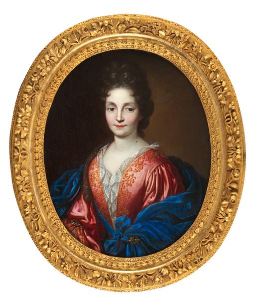 Portrait de dame entourage Largilliere