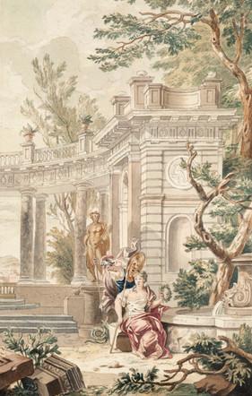 Scène mythologique - Attribué à Isaac de Moucheron (1667 - 1744)