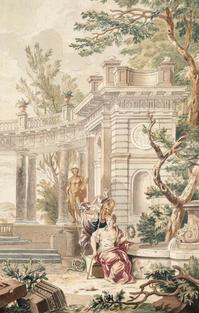 Scène mythologique – École hollandaise du XVIIe siècle, Attribué à Isaac de Moucheron