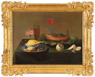 Nature morte au poisson et à la motte de beurre – Jacob van Es (1596-1666)