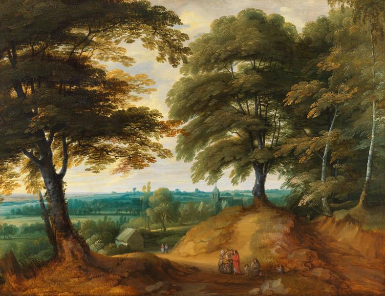 Halte à l'orée du bois - Attribué à Alexander Keirincx (1600 - 1652)