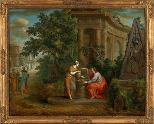 Le Christ et la Samaritaine – François van Dorne (1776 – 1848) signé et daté 1798