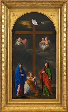 Adoration de la Croix – École bolonaise, disciple de Francesco Albani