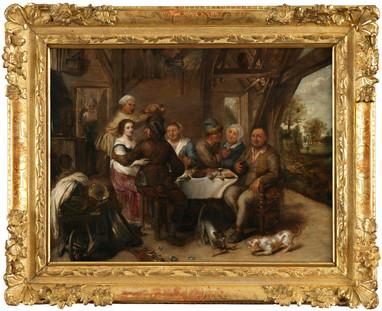 Repas paysan dans une taverne - entourage de David Ryckaert III (1612 - 1661)