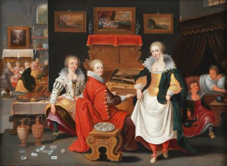 Parabole des dix Vierges - Atelier de Pieter Lisaert IV (Anvers 1595 - Id. 1629/30)