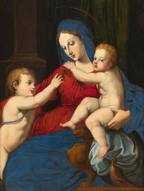 Vierge à l'Enfant et St Jean-Baptiste - Renaissance italienne