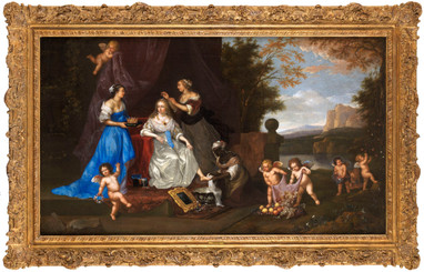 Portrait allégorique de dame en Vénus – Atelier de Jan Mytens (1614 – 1670)