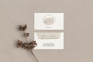 Printprodukt hier ein Visitenkarten Design