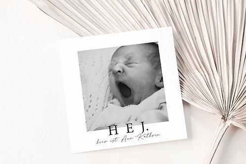 Geburtskarte HEJ