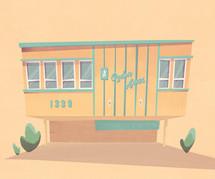 Concept Art - LA Apartment House