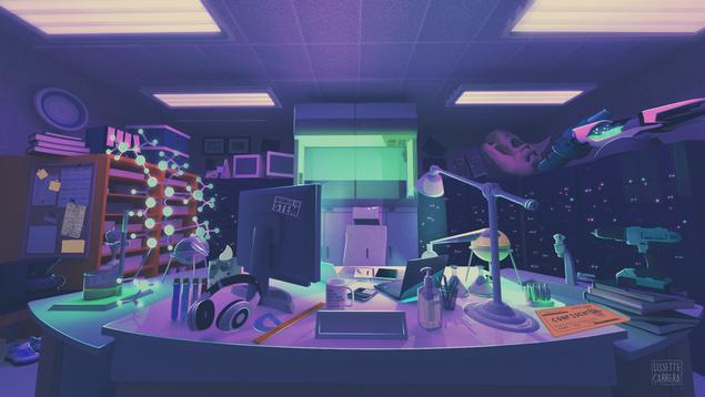 Sci-Fi Themed Environment Concept - Laboratory
