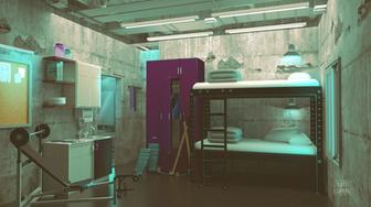 Sci-Fi Themed Environment Concept - Bunk