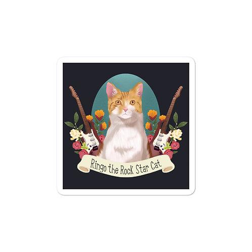 Ringo the Rock Star Cat Bubble-free stickers