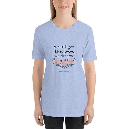 """""""Return"""" Lyric Design Relaxed Fix Tee Shirt"""