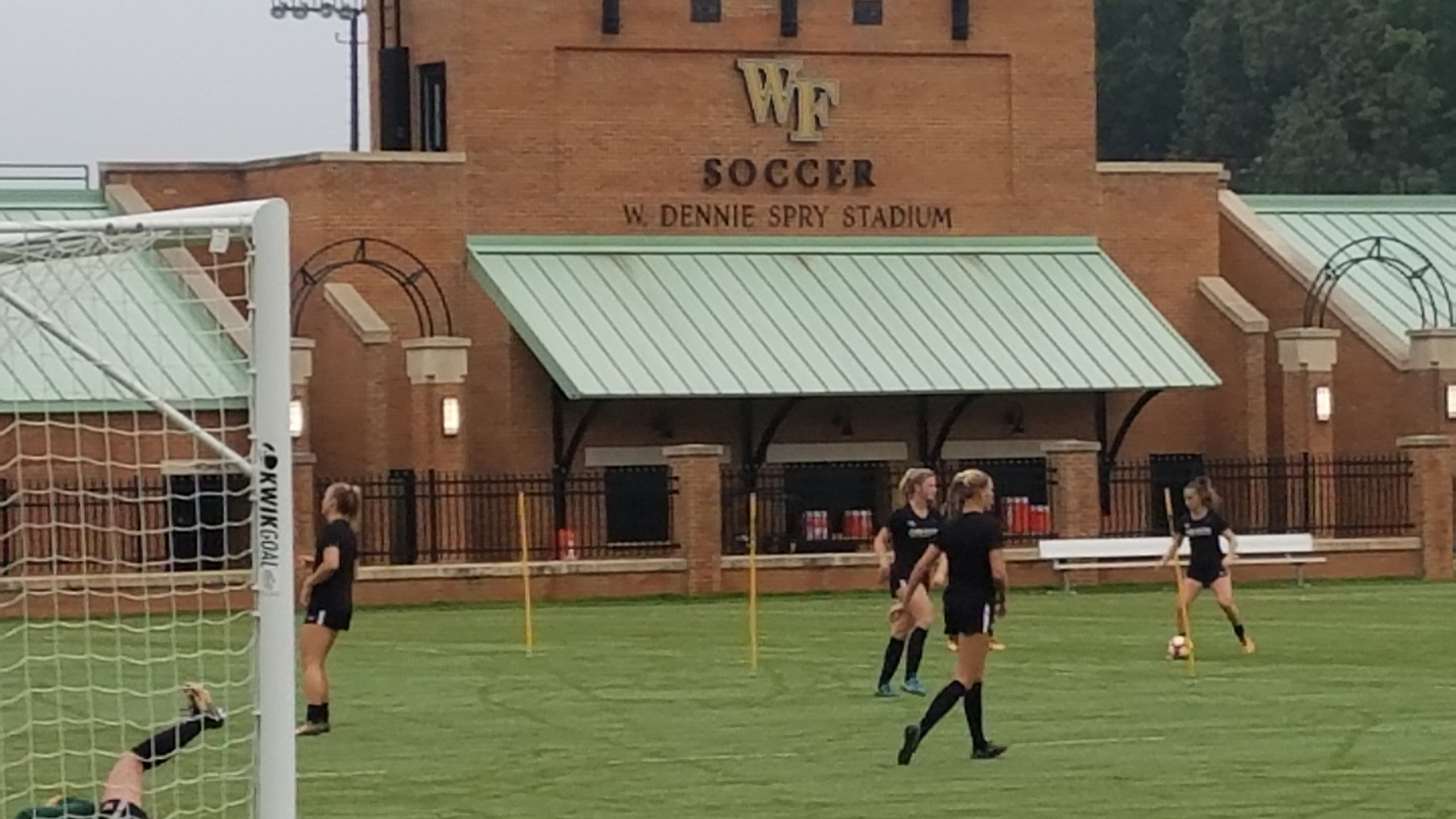 Chris Bart-Williams visits Wake Forest women's soccer program, October 2017.