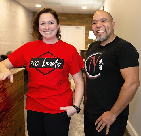 NC Budo's founders Jena Hare and Mike Suarez