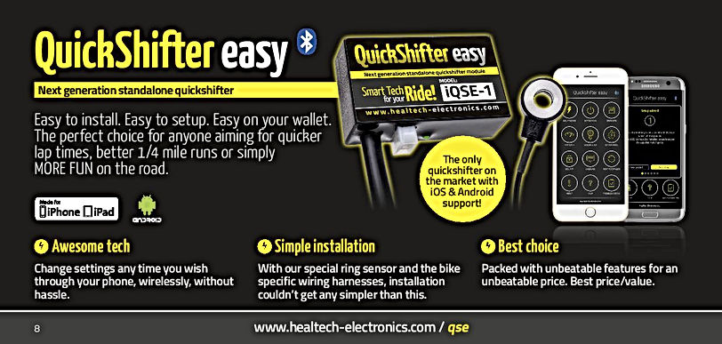 Healtech Quickshifter Easy Mototek
