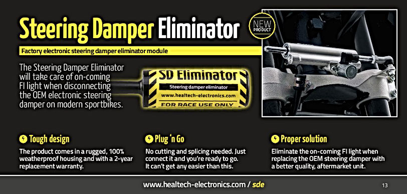 Healtech Steering Damper Eliminator Mototek