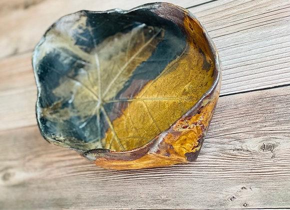 Handmade Brown Black Ceramic Bowl