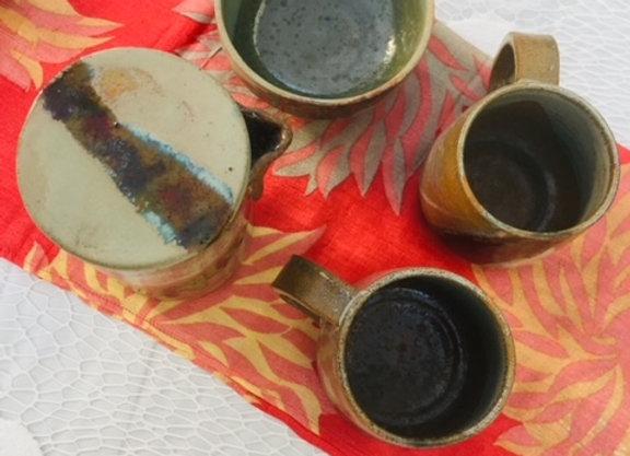 Handmade Ceramic Latte Cream Coffee Set