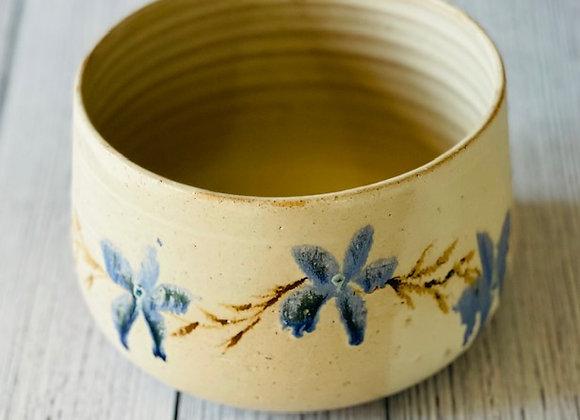 Handmade Ceramic Summer Floral Soup Bowl