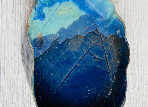 Handmade Blue Ceramic Bowl