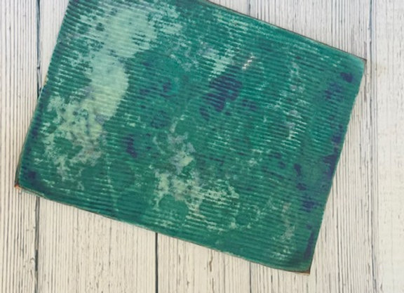 Ceramic Sea Green rectangular Flat Plate for Appetizers or Sushi